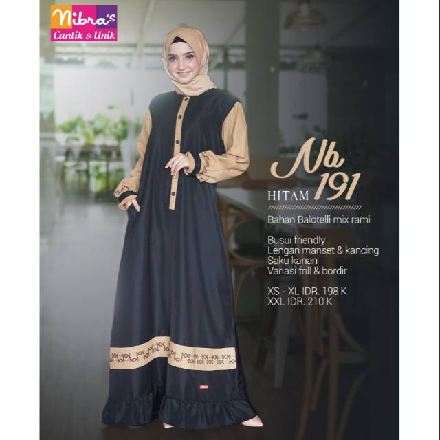 Produk Terbaru 2019 Nibras Gamis Nb 191 Shopee Indonesia