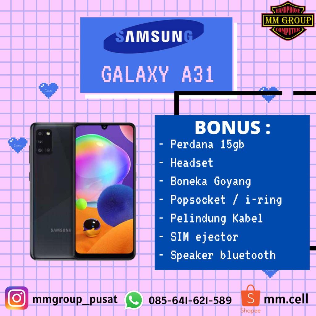 Promo Cuci Gudang Hp  HP SAMSUNG GALAXY A31 RAM 6/128GB DAN 8/128GB  Hp Murah