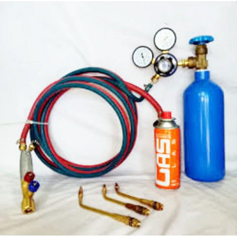 alat las oksigen / LPG siap pakai include tabung gas dan tabung oksigen mini