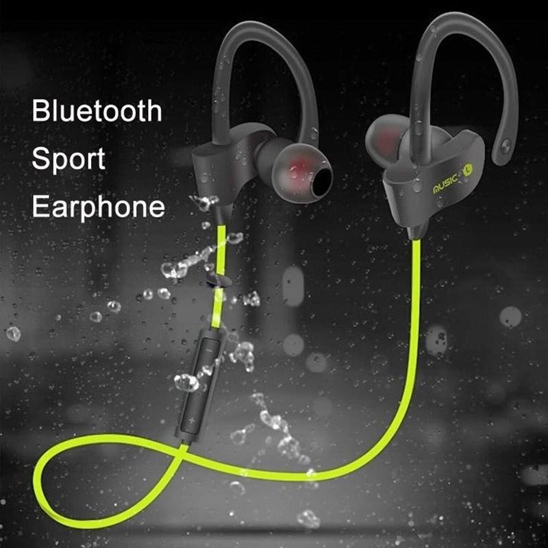 Earphone Sport Model In-Ear Wireless Bluetooh 4.1 Suara Stereo Anti Keringat dengan Mic |