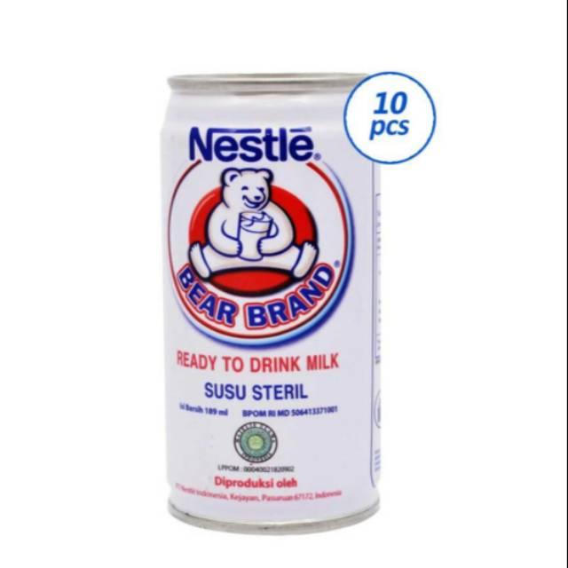 Bear Brand Minuman Susu Sapi Murni Susu Beruang Susu Seteril Bervitamin 10 Pcs X 189ml Shopee Indonesia