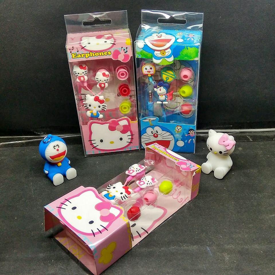 Headset Karakter Special Doraemon Hello Kitty Shopee Indonesia Paket Hemat Minnion 3in Powerbank Superwide Tongsis
