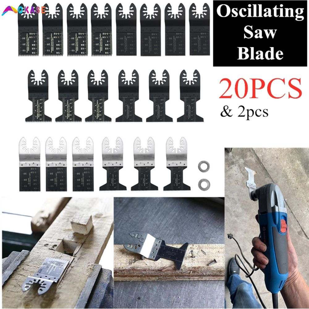 48 Pack Saw Blades DIY Oscillating Multi Tool Carbon Steel Cutter Universal