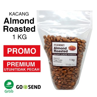 Almond Roasted 1 kg / Almond Panggang PREMIUM Utuh