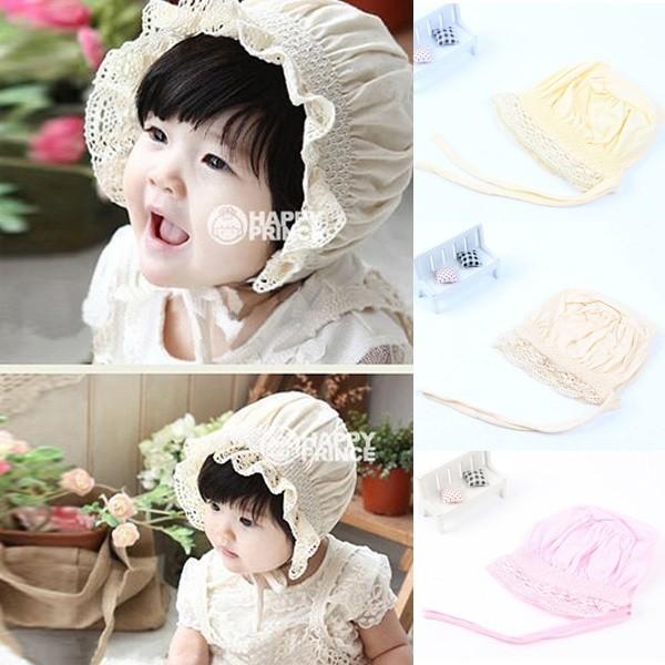 Topi bayi perempuan noni baby bonnet cantik  282a7e1975