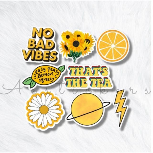 Sticker Yellow Aesthetic 1 Pack Stiker Kuning Lucu Untuk Case Hp Laptop Jurnal Shopee Indonesia