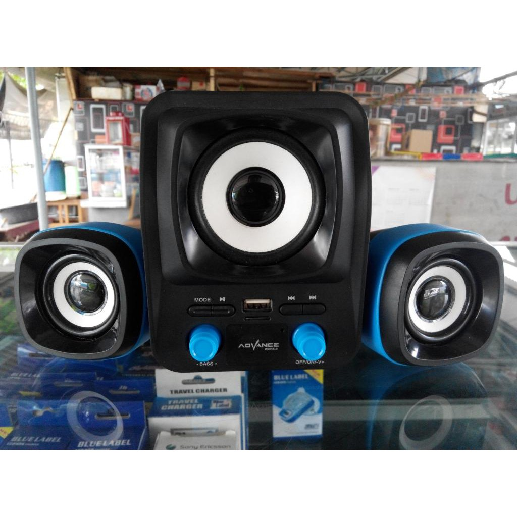 Speaker Subwoofer Advance T101kf Ac Dc Bass Power Amp Shopee Indonesia T 101kf