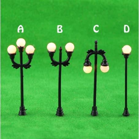 Miniatur Lampu Taman Garden Lamp Mini Maket Hiasan Clay Mnt07 Shopee Indonesia