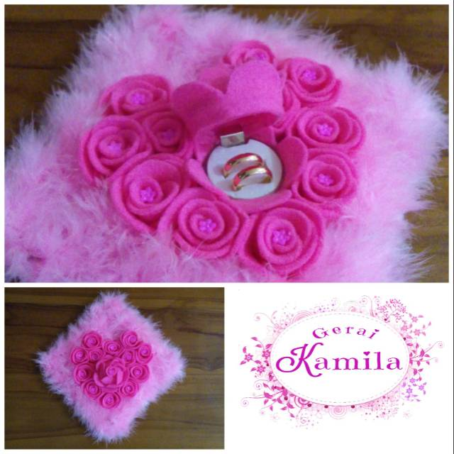 Tempat Perhiasan Box Kotak Cincin Bentuk Bunga Mawar Rose Love