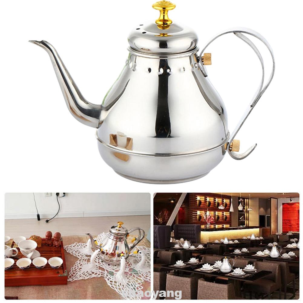 Stove Top Non Magnetic Drinking Kettle Vintage Home Office Stainless Steel Coffee Pot Shopee Indonesia