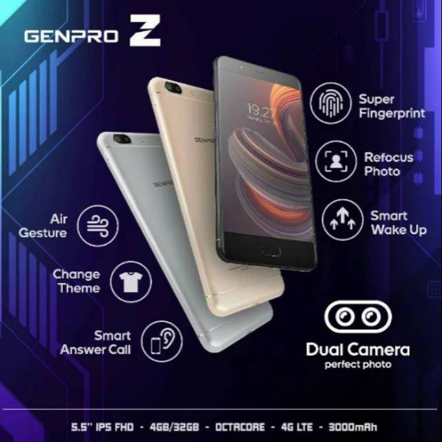 Evercoss Genpro Z Ram 4/32Gb Garansi Resmi