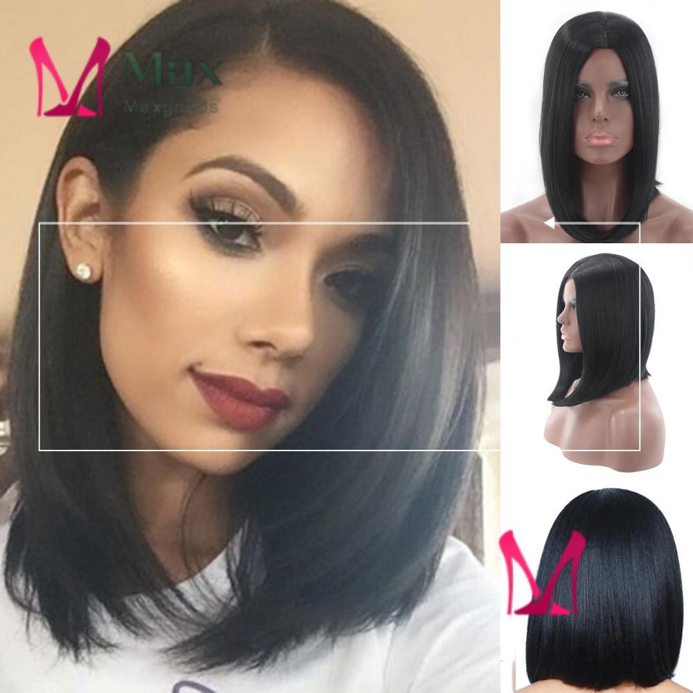 Wig Rambut Bob Pendek Tebal Warna Hitam Untuk Wanita Shopee Indonesia