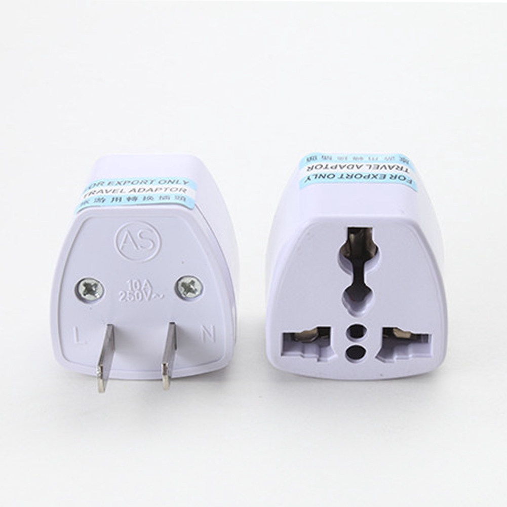 UK US EU to AU Australia Travel Power Supply Outlet Adapter Converter Plug White