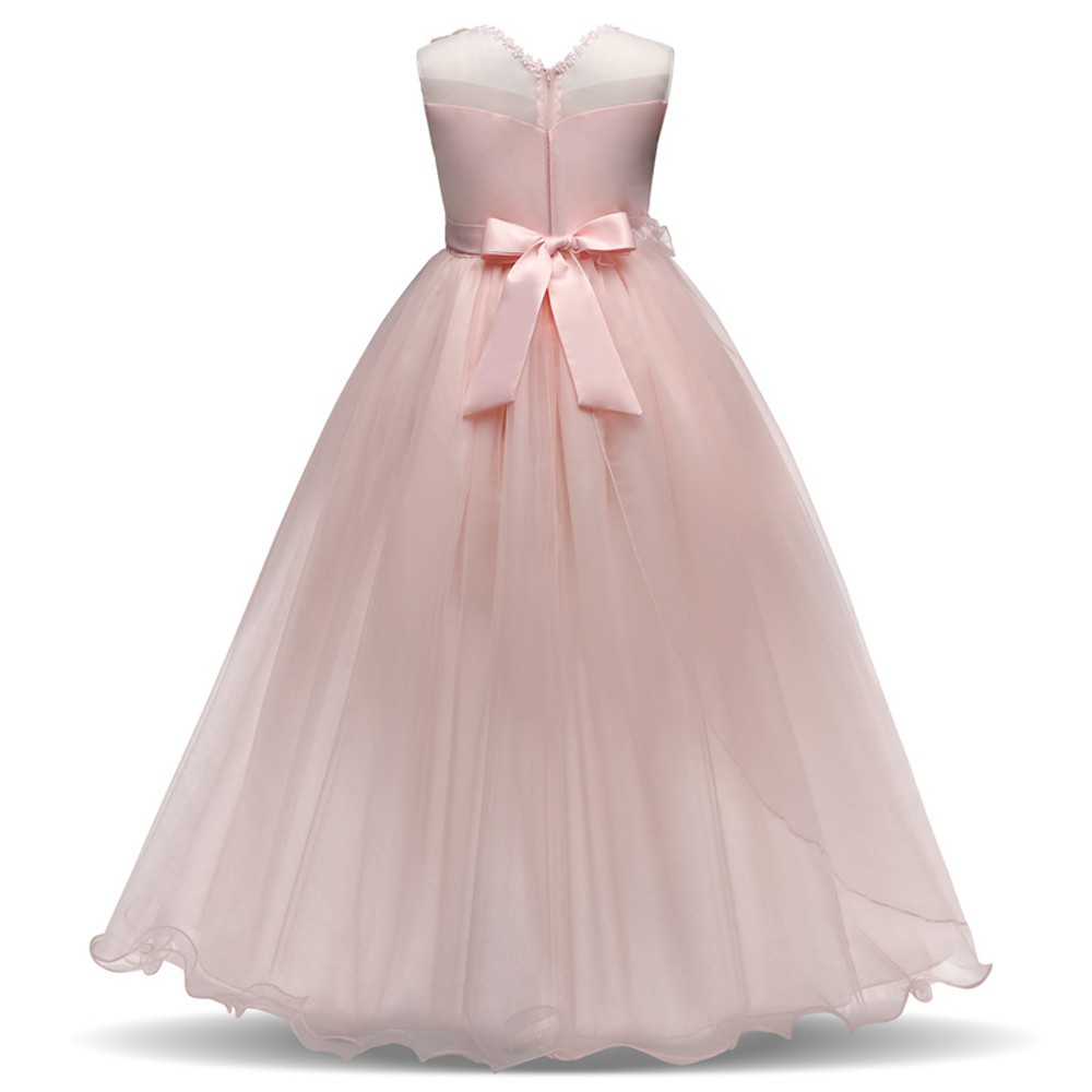 Flower Girl Princess Bridesmaid Pageant Baby Tutu Tulle Lace Party Wedding Dress | Shopee Indonesia