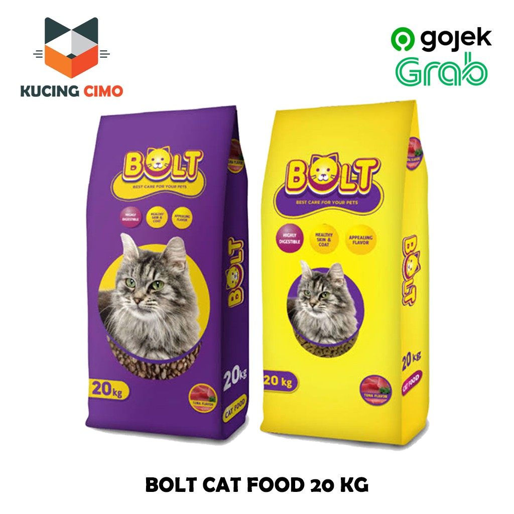 Makanan Kucing Bolt Tuna 20kg Freshpack Original Murah Shopee Indonesia