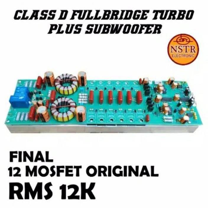 Power Amplifier Class D12K Fullbridge 12k Plus Subwoofer Terlaris Termurah