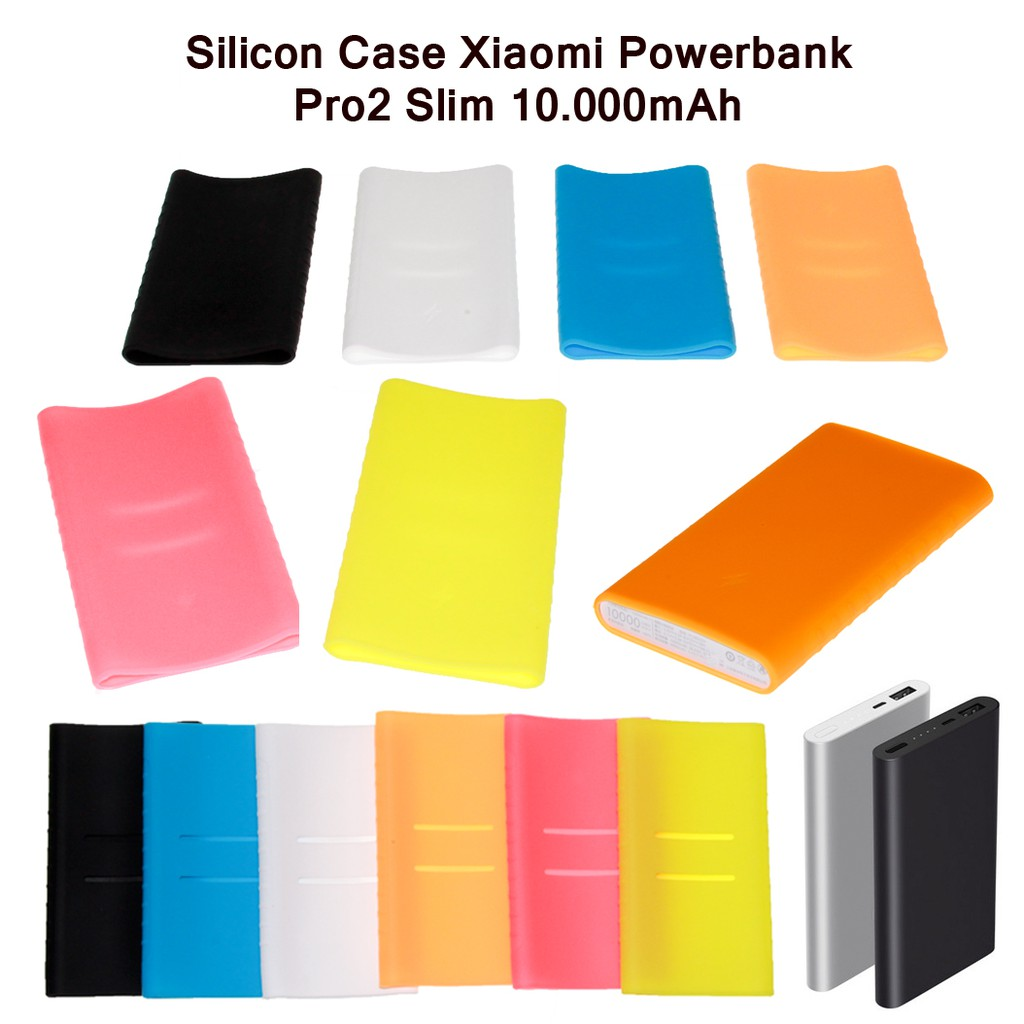 Silicone Case Xiaomi Powerbank 16000 Mah High Quality Ready Warna 5000 Hitam Biru Pink Oranye Hijau Shopee Indonesia