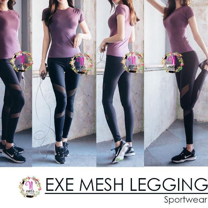 Lagi Trend Legging Short Exe Mesh Celana Senam Celana Gym Legging Zumba Legging Yoga Murah Import Ce Shopee Indonesia