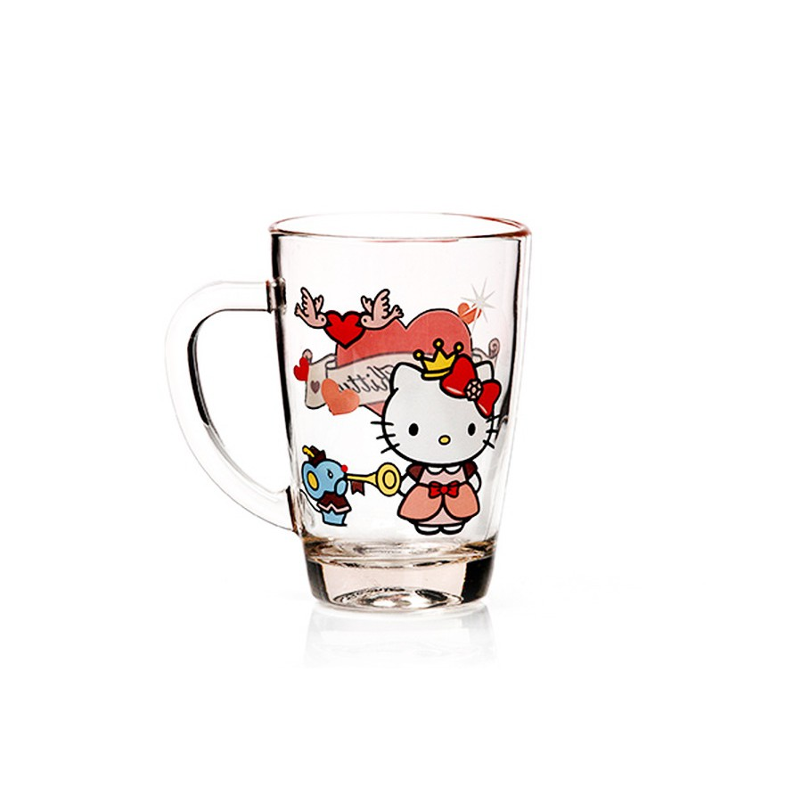 BRILIANT GMC1390 DISNEY GLASS MUG HELLO KITTY ASSORTED DESIGN 2 PCS | Shopee Indonesia