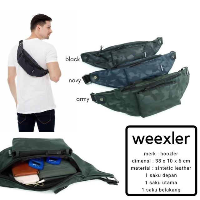... Promo Tas Hoozler Weexler Waist Bag Murah / Jual Waist Bag Cowok Army / Obral Tas ...