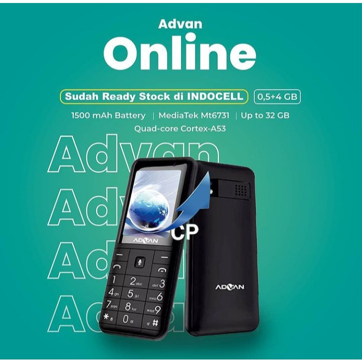 Advan Smart Feature 4G Lte Phone Hp Bisa Whatsapp Hp Jadul Internet