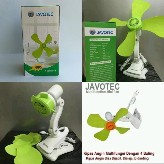Kipas Angin Jepit duduk dinding portable listrik Javotec 4 baling 22w | Shopee Indonesia