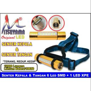 Senter Tangan Senter Kepala 2 In 1 Super Terang Mitsuyama Ms 019 Shopee Indonesia