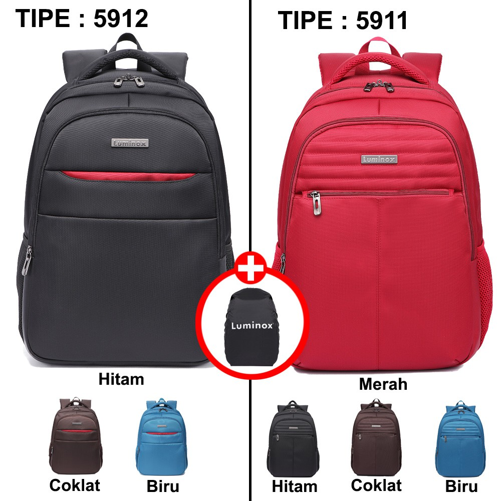Luminox Tas Ransel Laptop Backpack Up To 15 Inch Anti Air 5912 Edberth Blue Bonus Bag Cover Shopee Indonesia