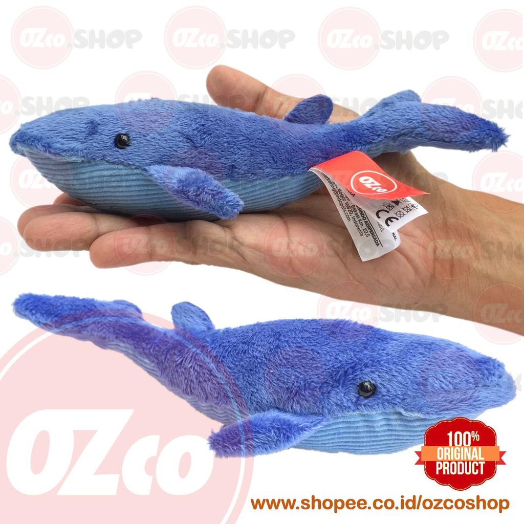 Boneka Hewan Paus Biru ( Ozco Blue Whale Stuffed Animal ) 17 Inch | Shopee Indonesia