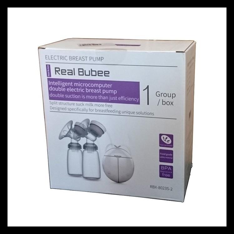 READY STOCK! Real bubee double breast pump electric / Pompa asi elektrik real bubee | Shopee Indonesia
