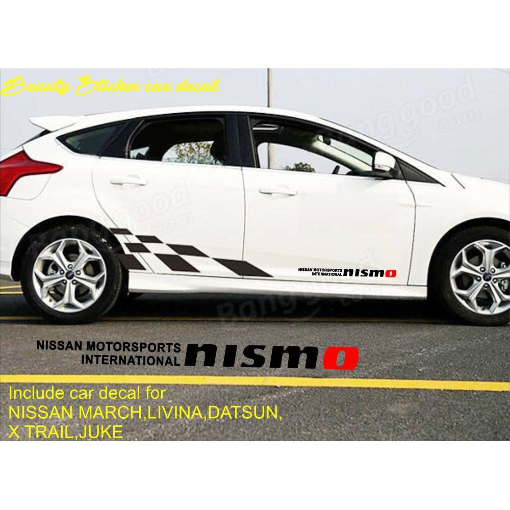 Sticker nissan x trail body samping mobil shopee indonesia