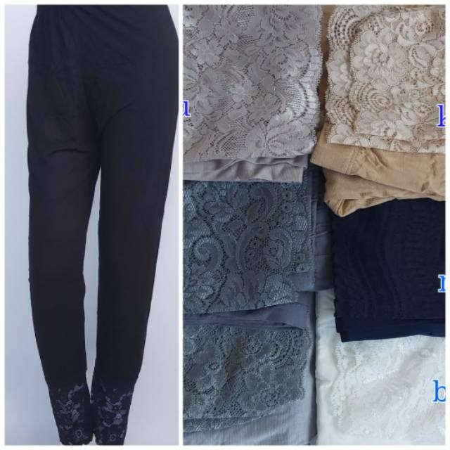 Celamis Renda Celana Daleman Gamis Renda Model Leging Shopee Indonesia