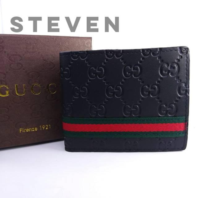 e0f5f5711c87fe Box + Dompet Cowok Pendek Gucci Bi-Fold Supreme GG Print Snake Ular Premium  KULIT ASLI ORI LEATHER