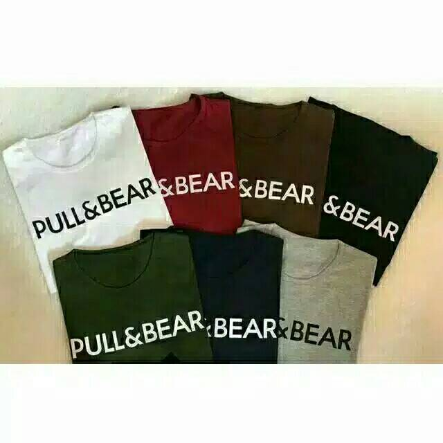 LOLILE KAOS PULL AND BEAR PENDEK/ PULL AND BEAR PANJANG ALL SIZE FIT TO L | Shopee Indonesia