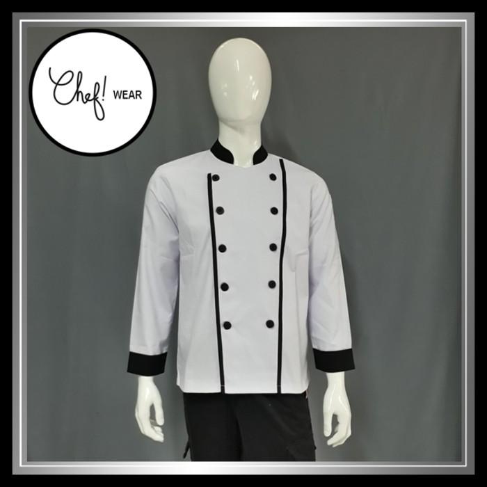 Chef Series Executive Tangan Panjang Baju Koki Putih Shopee