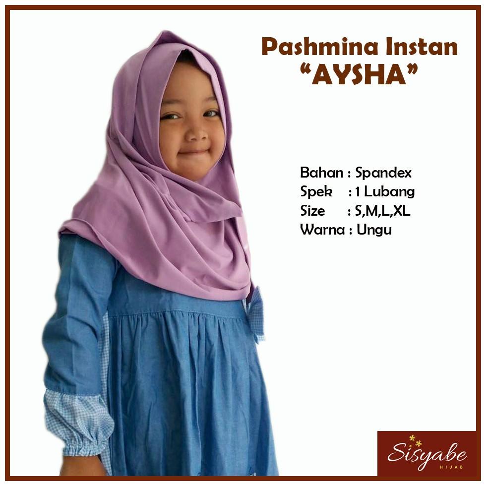 Kerudung Jilbab Anak Pashmina Instan Anak Aysha Ungu Utk 2 10 Th Model 1 Lup Bahan Kain Spandeks Shopee Indonesia