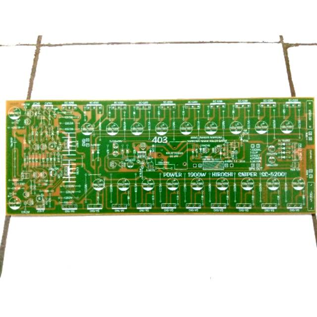 PCB Power Amplifier Yiroshi 1900 Watt Built Up 3U