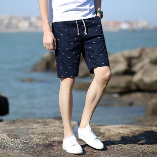 pants new Summer thin trousers 18 casual sports five-minute slacks beach size men's