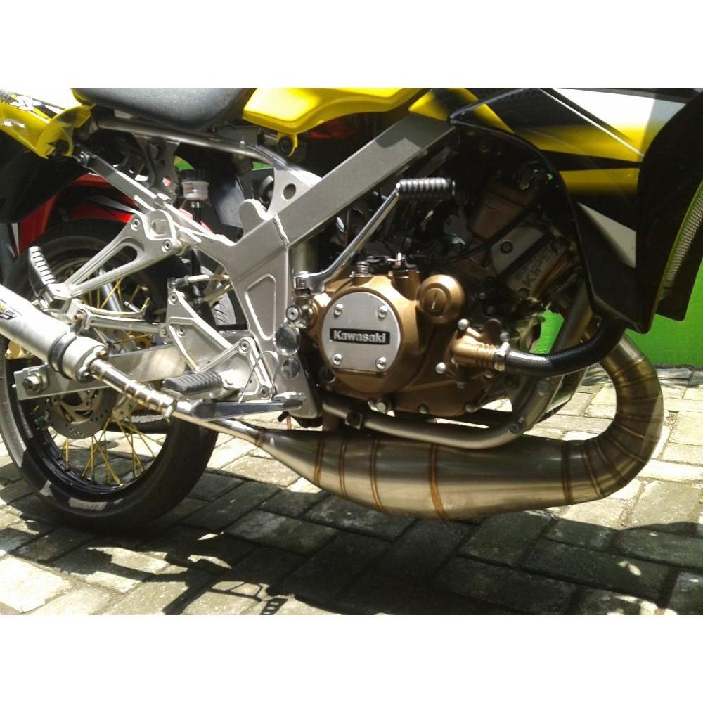 Knalpot Creampie Original Kawasaki Ninja R Rr Type Zz1 Shopee R9 Racing Assen Stainless Klx 150 Indonesia