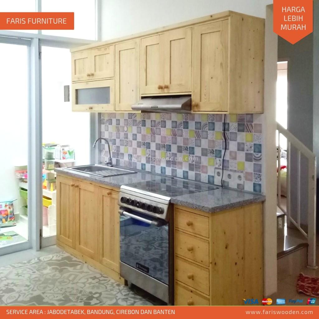 Kitchen Set, Kayu Jati Belanda (Harga Permeter)