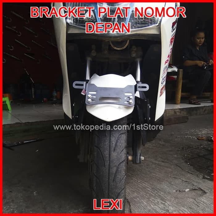 bracket breket dudukan plat nomor aerox 155 di spakbor braket lampu | Shopee Indonesia