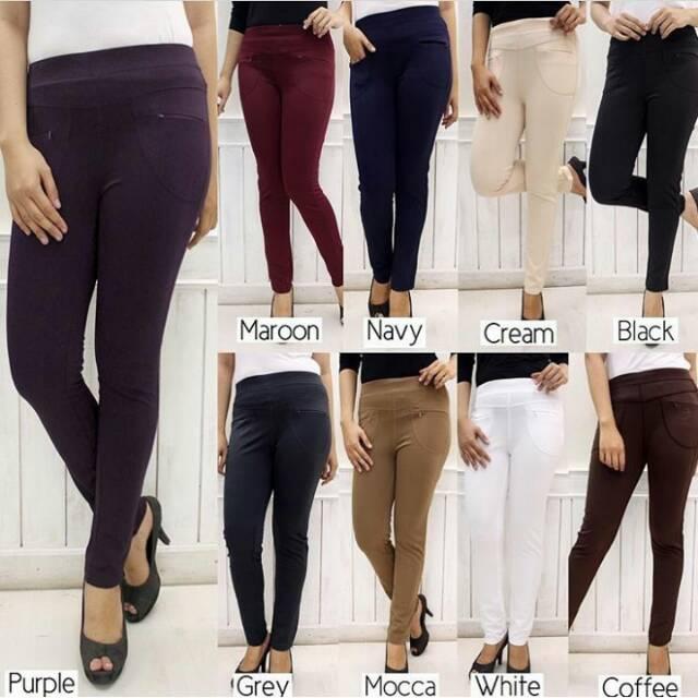 Celana Simple Legging Merek Saya Shopee Indonesia