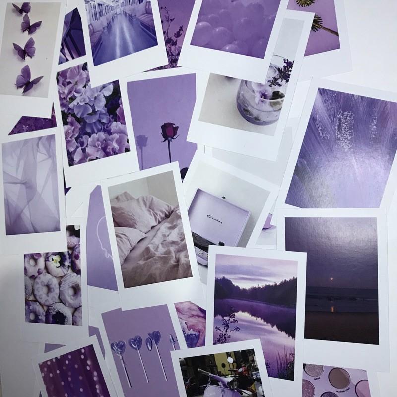 Paket Tema 25 Foto Lilac Themed Polaroid Dekorasi Kamar Aesthetic Shopee Indonesia