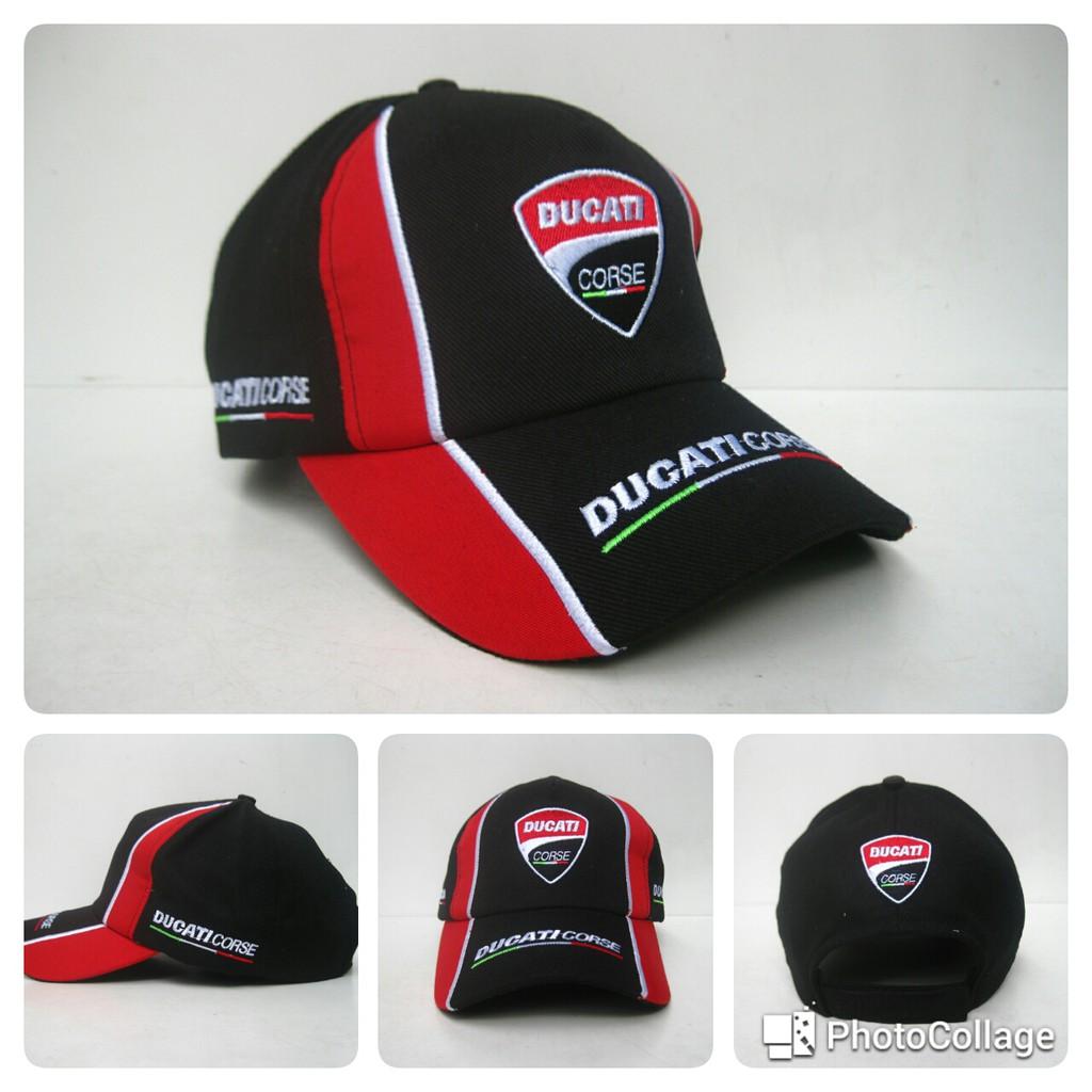 Topi Distro MotoGP Ducati Hitam Merah TPD-HM16  0026a6a6cd