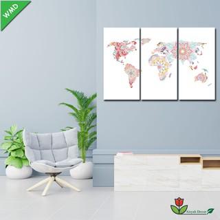 hiasan dinding dekorasi rumah seri anak peta dunia world