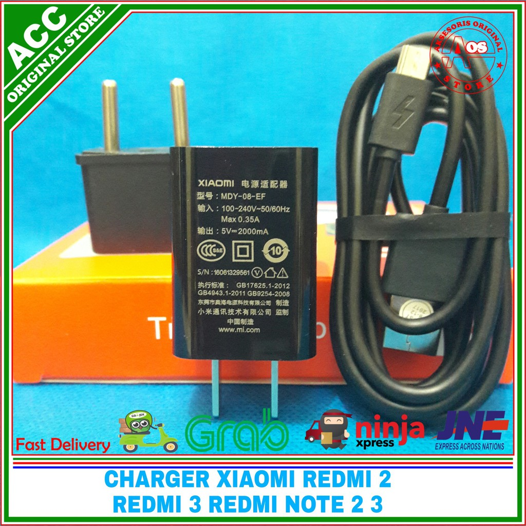 Charger Xiaomi Redmi 4 Note 4x 4a Pro Original 100 Mdy 08 Kabel Data Micro Usb 2 3 Ef Shopee Indonesia