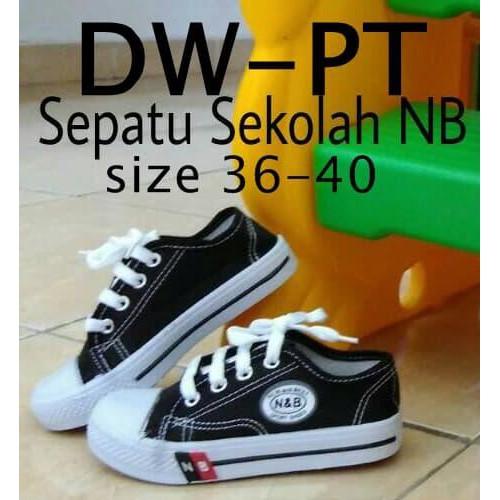 Rekomendasi Sepatu Sekolah Sd Smp Sma Warna Hitam Tali Murah Dw-Pt Unisex  New. dc6efded8e