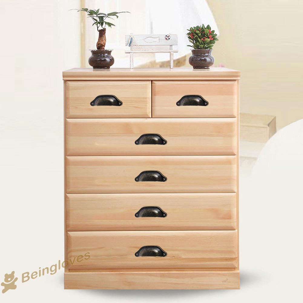 3Pcs Cutlery Dresser Knobs Drawer Furniture Handle Cabinet Decor Pull Black