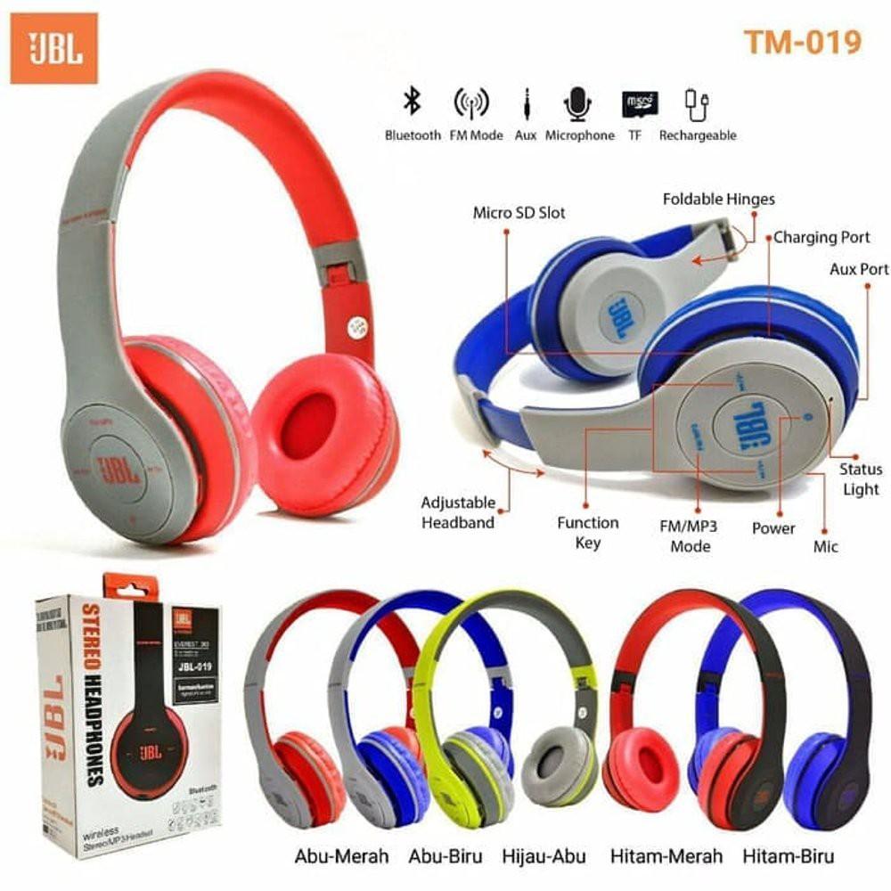 Headphone Bluetooth Jbl Everest 300 019 On Ear Headphones In Wireless 100 Hitam Shopee Indonesia