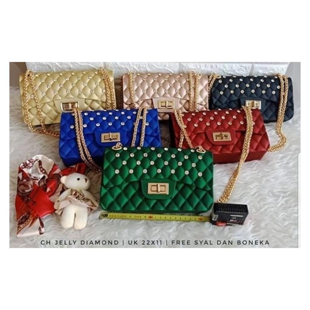 Ins super api tas kecil 2018 musim semi dan musim panas wanita baru rantai tas tas versi Korea dari | Shopee Indonesia